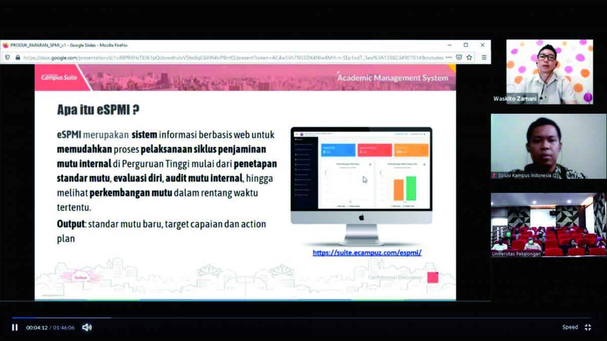 Paparan Aplikasi eSPMI di Universitas Pekalongan