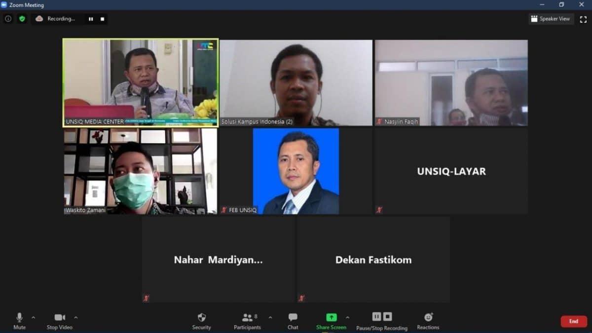 Paparan Aplikasi eSPMI di Universitas Sains Al-Qur'an Jawa Tengah
