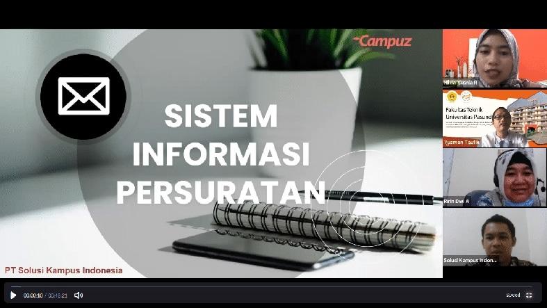 Paparan Aplikasi ePLO (Paperless Office) untuk Universitas Pasundan Bandung