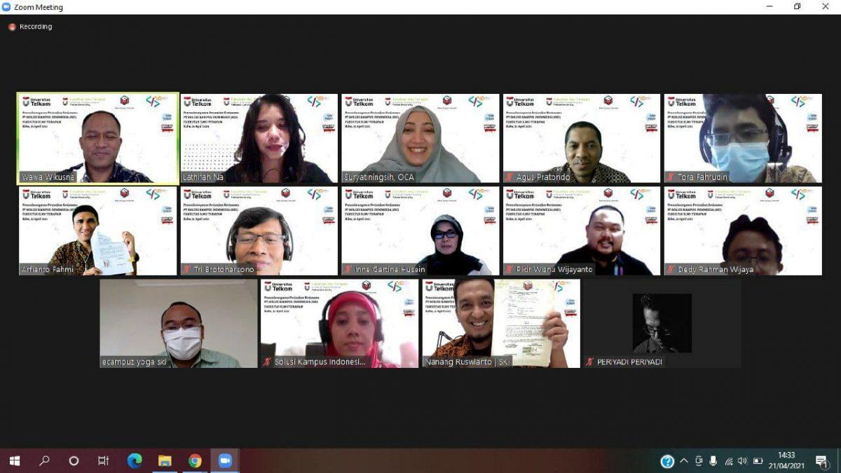 Solusi Kampus Indonesia & FIT Universitas Telkom, Tanda Tangani Kontrak Kerjasama
