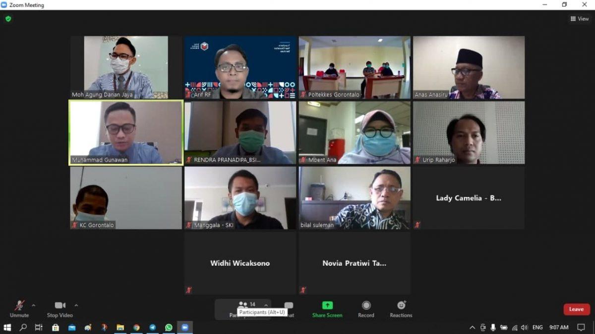Diskusi Kerjasama Pembayaran SPP Poltekkes Kemenkes Gorontalo melalui Edupay BSI