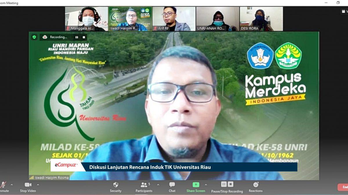 Diskusi Lanjutan Rencana Induk TIK Universitas Riau