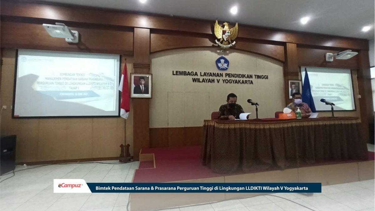 Bimtek Pendataan Sarana & Prasarana Perguruan Tinggi di Lingkungan LLDIKTI Wilayah V Yogyakarta