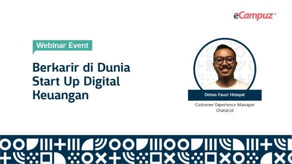 Webinar eCampuz Series 36 'Berkarir di Dunia Start Up Digital Keuangan' 1