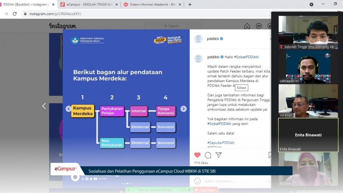 Sosialisasi dan Pelatihan Penggunaan eCampuz Cloud MBKM di STIE SBI