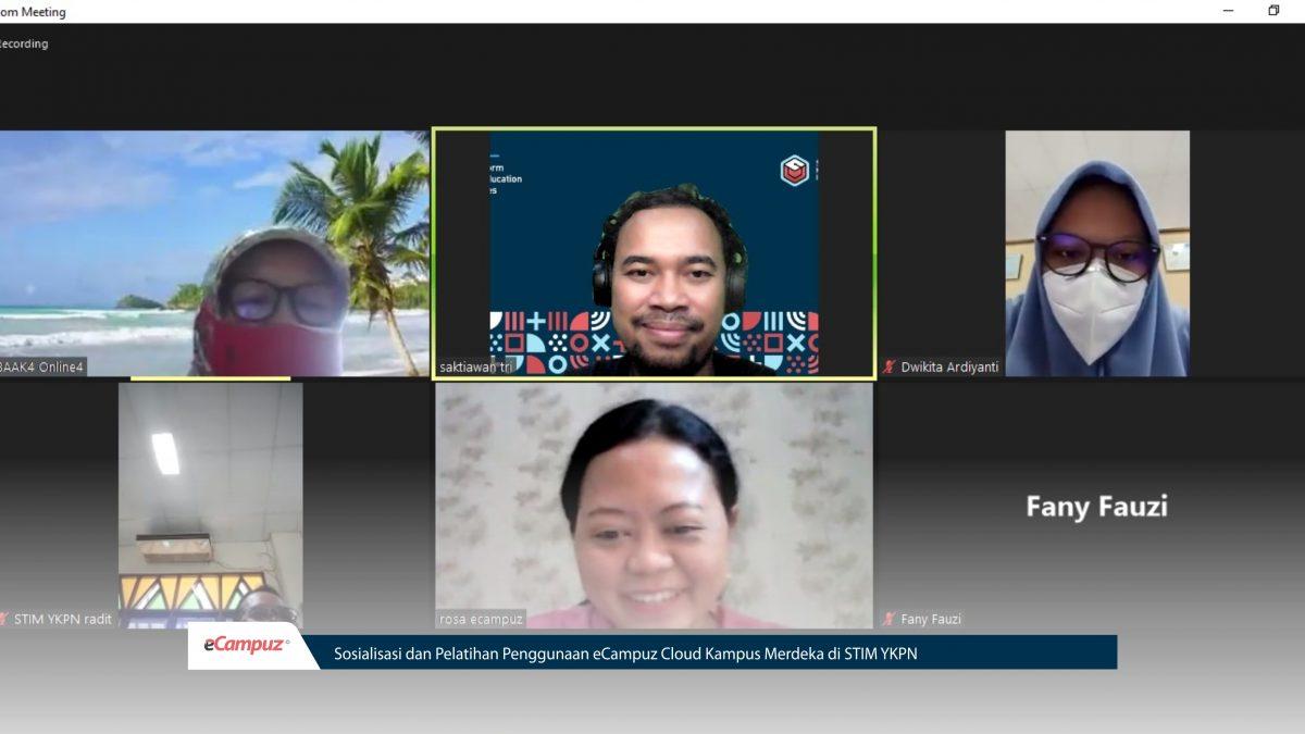 Sosialisasi dan Pelatihan Penggunaan eCampuz Cloud Kampus Merdeka di STIM YKPN