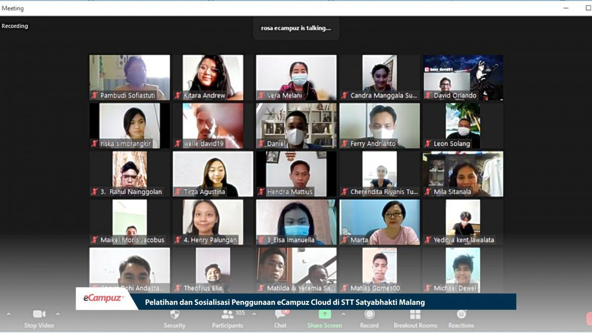 Pelatihan & Sosialisasi Penggunaan eCampuz Cloud di STT Satyabhakti Malang