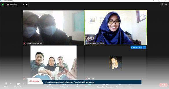 Pelatihan eAkademik eCampuz Cloud di AKG Mataram 14