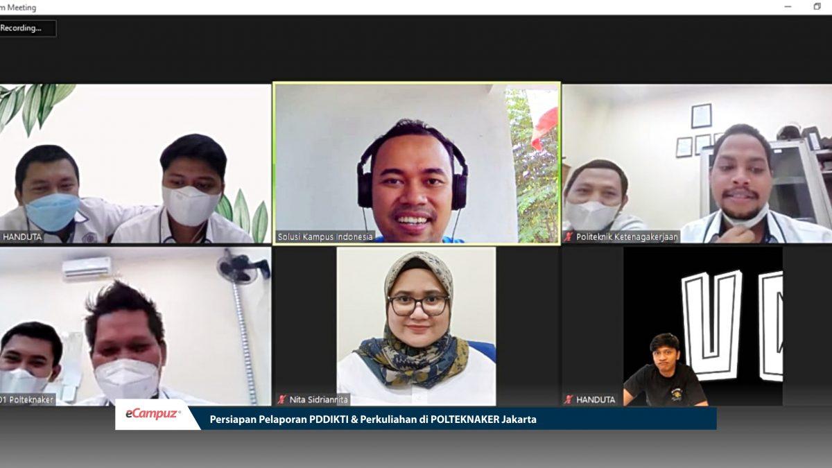 Persiapan Pelaporan PDDIKTI & Perkuliahan di Polteknaker Jakarta