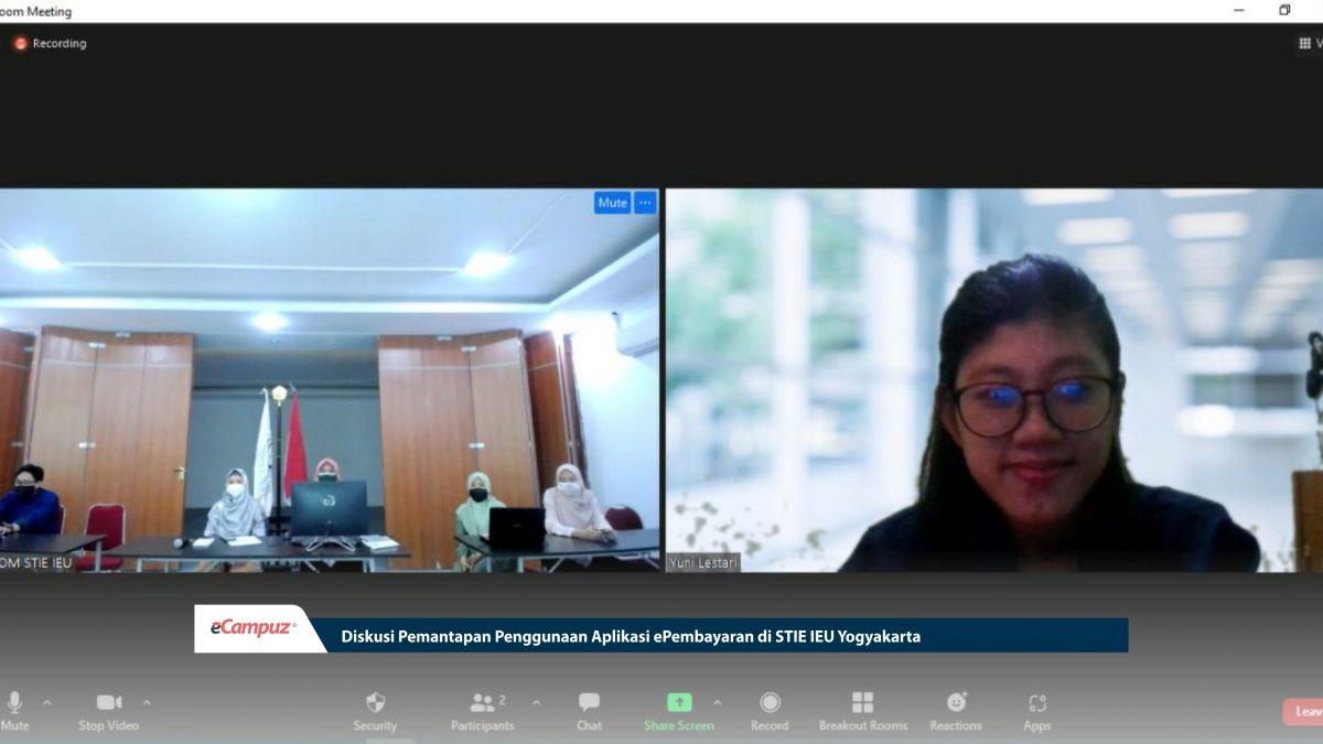 Diskusi Pemantapan Penggunaan Aplikasi ePembayaran di STIE IEU Yogyakarta