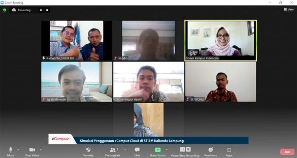 Simulasi Penggunaan eCampuz Cloud di STIEM Kalianda Lampung 7