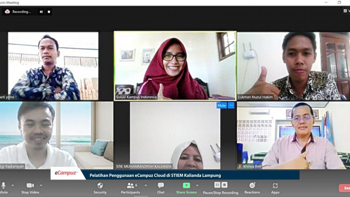 Pelatihan Penggunaan eCampuz Cloud di STIEM Kalianda Lampung