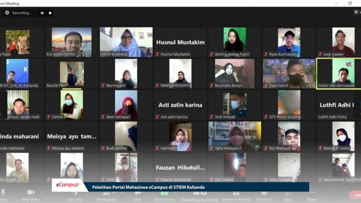 Sosialisasi ePortal Mahasiswa eCampuz di STIEM Kalianda Lampung